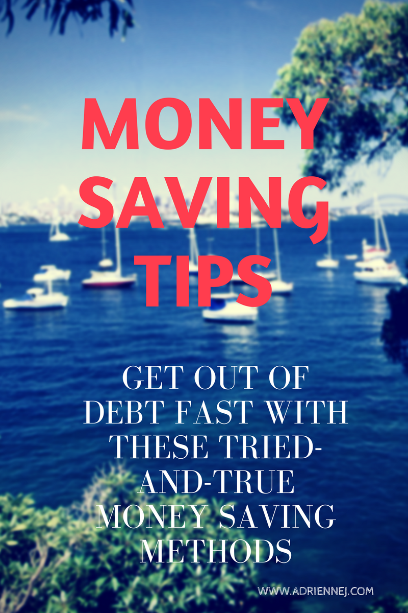 Money saving tips. Get out of debt with these tried-and-try money saving methods.